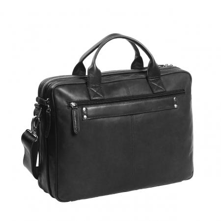 Geanta de laptop din piele naturala, The Chesterfield Brand, Jackson 15.6 inch, Negru [5]