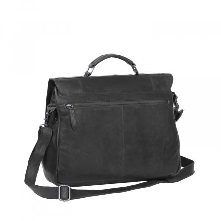 Geanta de laptop din piele naturala, The Chesterfield Brand, Matthew 15.6 inch, Negru [6]