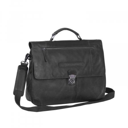 Geanta de laptop din piele naturala, The Chesterfield Brand, Matthew 15.6 inch, Negru [0]