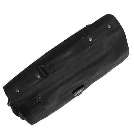 Geanta de laptop din piele naturala, The Chesterfield Brand, Matthew 15.6 inch, Negru [3]