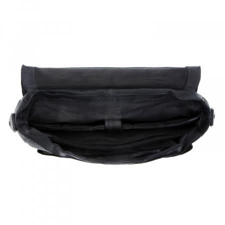 Geanta de laptop din piele naturala, The Chesterfield Brand, Quinten 17 inch, Negru [3]