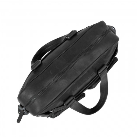 Geanta de laptop din piele naturala, The Chesterfield Brand, Samual 15 inch, Negru [2]