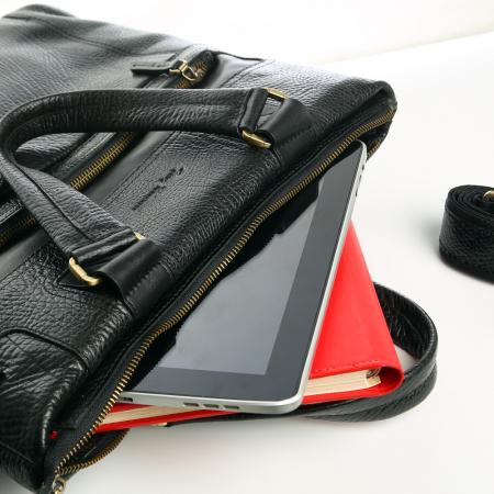 Geanta de laptop din piele naturala neagra Tony Bellucci T5120 [3]