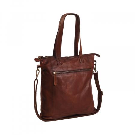 Geanta de laptop din piele naturala, The Chesterfield Brand, Adeline 12 inch, Maro coniac [0]