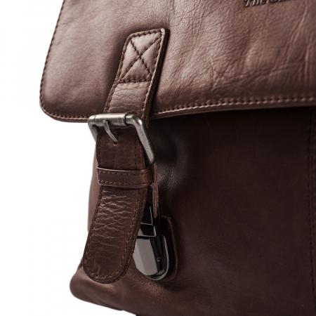 Geanta de laptop din piele naturala, The Chesterfield Brand, Belfast 15.6 inch, Maro inchis [3]