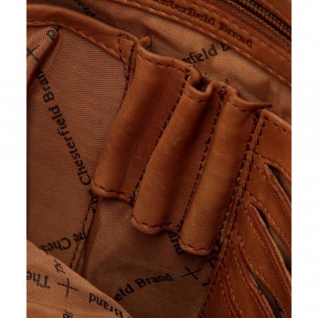 Geanta de laptop din piele naturala, The Chesterfield Brand, Belfast 15.6 inch, Maro coniac [6]