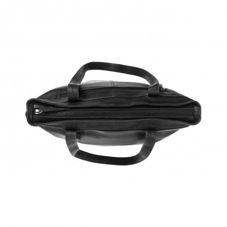 Geanta de laptop din piele naturala, The Chesterfield Brand, Bonn 14 inch, Negru [3]