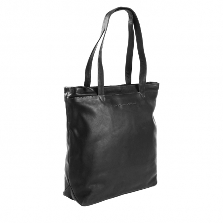 Geanta de laptop din piele naturala, The Chesterfield Brand, Bonn 14 inch, Negru [0]