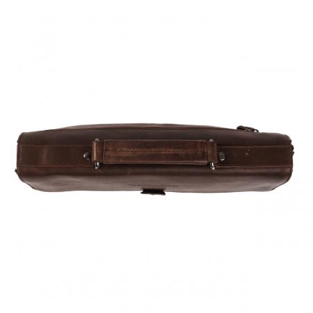 Geanta de laptop din piele naturala, The Chesterfield Brand, Brenn 12 inch, Maro inchis [2]