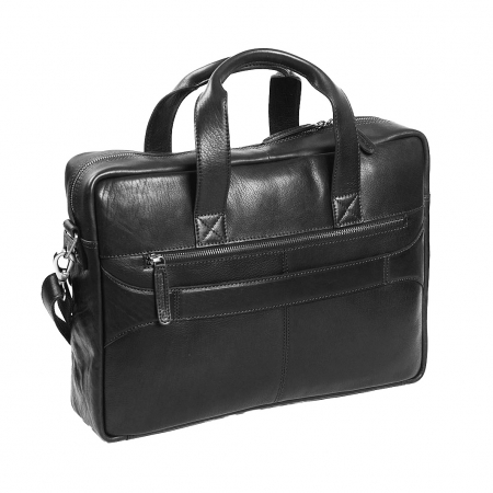 Geanta de laptop din piele naturala, The Chesterfield Brand, Ethan 15.6 inch, Negru [5]