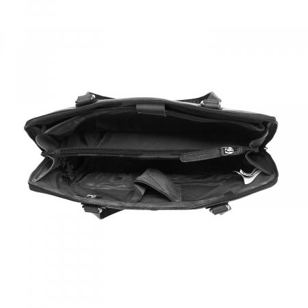 Geanta de laptop din piele naturala, The Chesterfield Brand, Flint 13 inch, Negru [2]