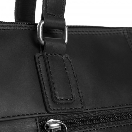 Geanta de laptop din piele naturala, The Chesterfield Brand, Flint 13 inch, Negru [4]