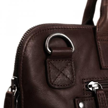 Geanta de laptop din piele naturala, The Chesterfield Brand, Harvey 14 inch, Maro inchis [4]