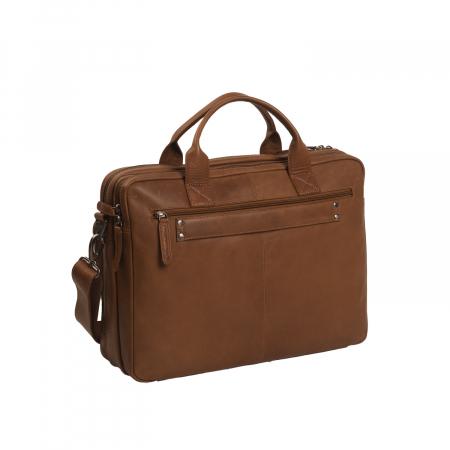 Geanta de laptop din piele naturala, The Chesterfield Brand, Jackson 15.6 inch, Maro coniac [5]