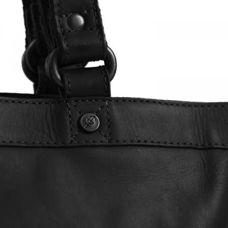 Geanta de laptop din piele naturala, The Chesterfield Brand, Lille, 13 inch, Negru [2]