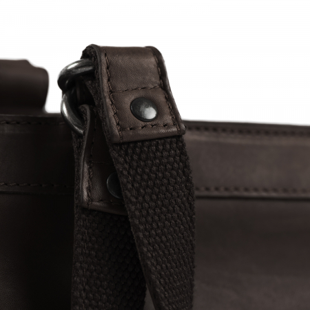 Geanta de laptop din piele naturala, The Chesterfield Brand, Lima, 15 inch, Maro inchis [3]