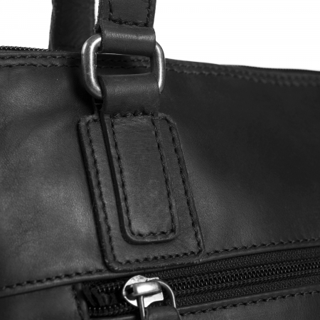 Geanta de laptop din piele naturala, The Chesterfield Brand, Manon, 14 inch, Negru [3]
