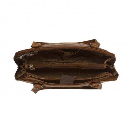 Geanta de laptop din piele naturala, The Chesterfield Brand, Manon, 14 inch, Negru [13]