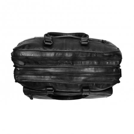 Geanta de laptop din piele naturala, The Chesterfield Brand, Rowan 17 inch, Negru [3]