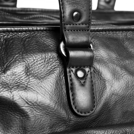 Geanta de laptop din piele naturala, The Chesterfield Brand, Rowan 17 inch, Negru [2]