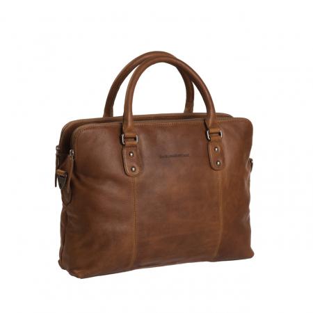 Geanta de laptop din piele naturala, The Chesterfield Brand, Stephanie, 15.4 inch, Maro coniac [0]