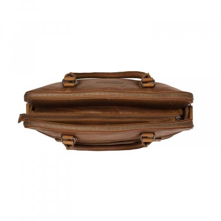 Geanta de laptop din piele naturala, The Chesterfield Brand, Stephanie, 15.4 inch, Maro coniac [3]