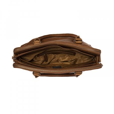 Geanta de laptop din piele naturala, The Chesterfield Brand, Stephanie, 15.4 inch, Maro coniac [2]