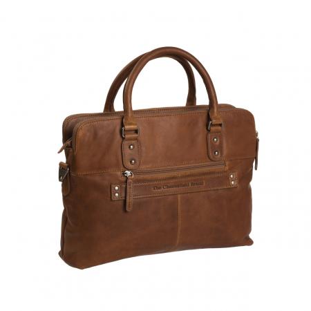Geanta de laptop din piele naturala, The Chesterfield Brand, Stephanie, 15.4 inch, Maro coniac [5]