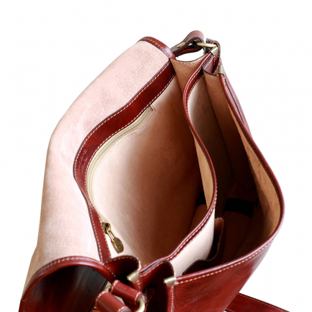 Geanta de umar din piele naturala maro roscat model S5551 [2]
