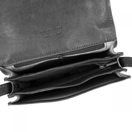 Geanta de umar, din piele vachetta neagra tip tolba S5510 [3]