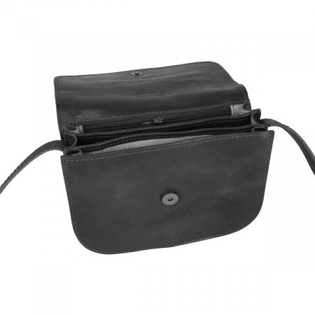 Geanta de umar, din piele vachetta neagra tip tolba S5510 [4]