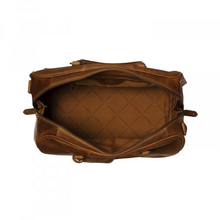 Geanta de voiaj unisex The Chesterfield Brand, din piele moale maro coniac, Liam [4]