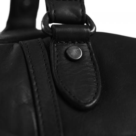Geanta de voiaj unisex The Chesterfield Brand, din piele naturala, Kiel, Negru [2]