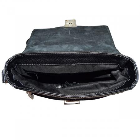 Geanta din piele moale neagra model 042 [4]
