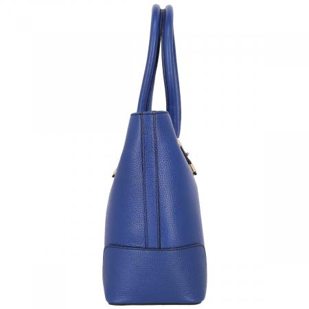 Geanta din piele naturala, bleumarin model 1127 [2]