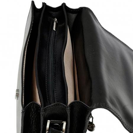 Geanta din piele vachetta neagra tip tolba S5513 [2]