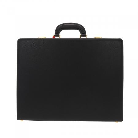 Geanta diplomat  pentru barbati, din piele naturala neagra, model Eminsa 61624