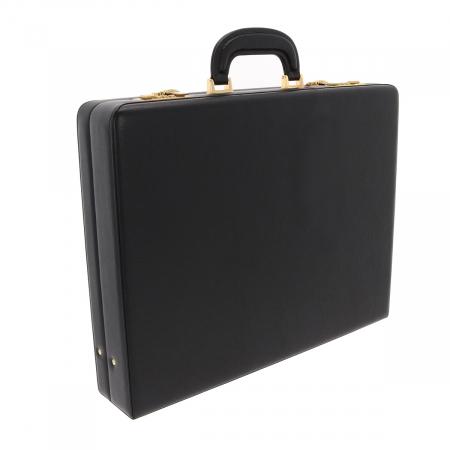 Geanta diplomat  pentru barbati, din piele naturala neagra, model Eminsa 61620