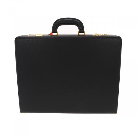 Geanta diplomat  pentru barbati, din piele naturala neagra, model Eminsa 61621