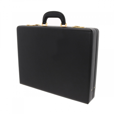 Geanta diplomat  pentru barbati, din piele naturala neagra, model Eminsa 61623
