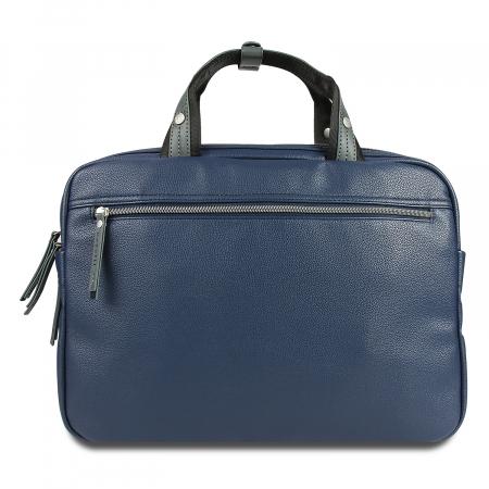 Geanta laptop 13 inch Bugatti Moto D, pentru barbati, bleumarin [4]