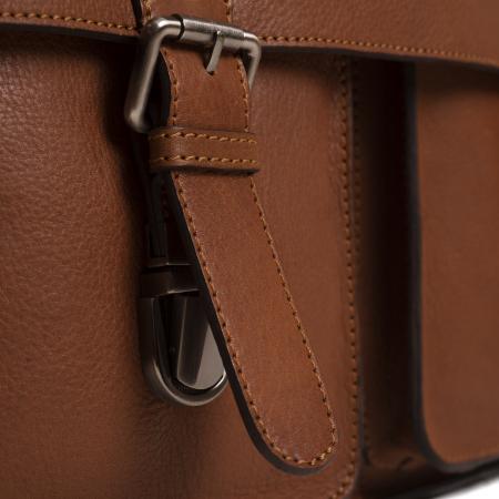 Geanta laptop The Chesterfield Brand, piele naturala, Idaho 15,6 inch, cu 5 compartimente, Maro coniac [5]