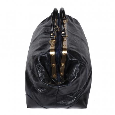 Geanta mare de calatorie din piele naturala neagra Tony Bellucci, T5012 model2