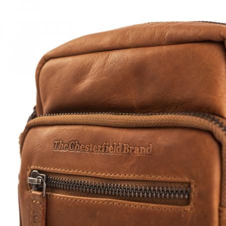 Geanta mica de barbati, The Chesterfield Brand, din piele moale, Bremen, Maro coniac [5]