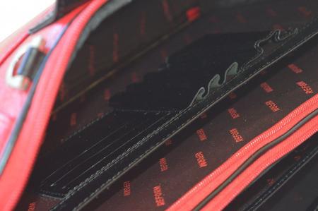 Geanta pentru laptop de 15,4 inch, din piele naturala croco neagra model 7008 [5]