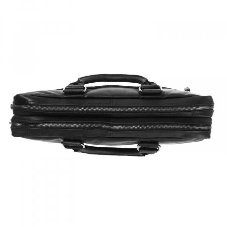 Geanta pentru laptop de 15,6 inch, The Chesterfield Brand din piele naturala, Floris, Negru [3]