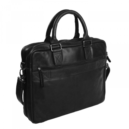 Geanta pentru laptop de 15,6 inch, The Chesterfield Brand din piele naturala, Floris, Negru [2]