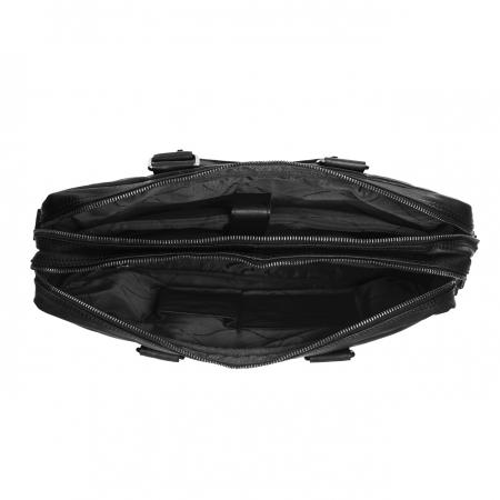 Geanta pentru laptop de 15,6 inch, The Chesterfield Brand din piele naturala, Floris, Negru [4]
