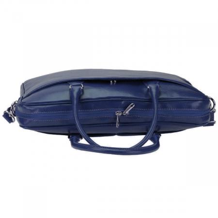 Geanta pentru laptop din piele bleumarin 031 [3]