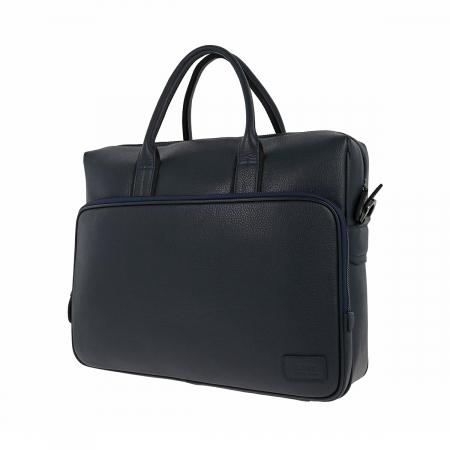 Geanta pentru laptop, tableta si acte din piele bleumarin, marca The Bond, model 1084 [5]